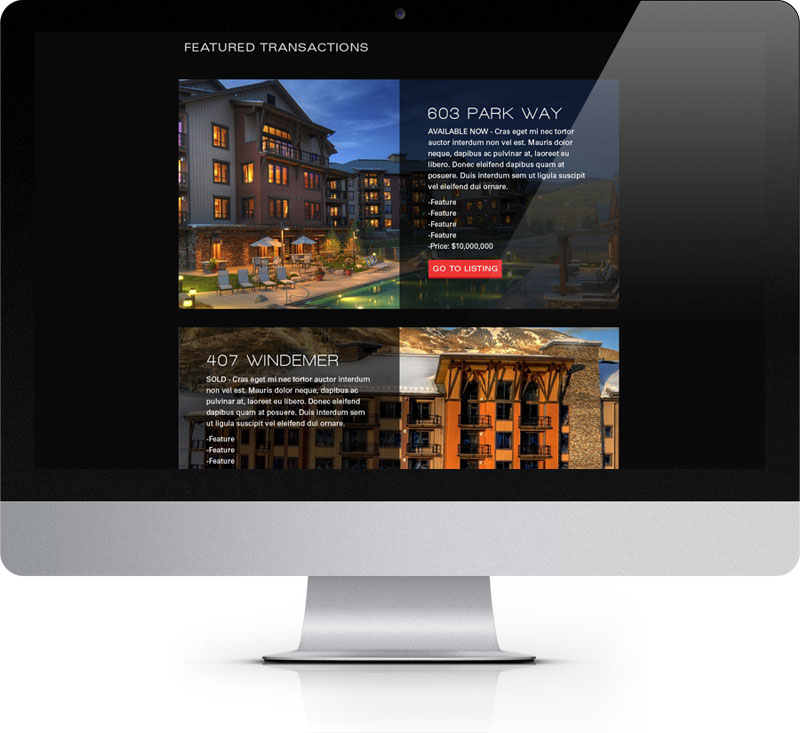 The re-designed Cheek Real Estate Services website